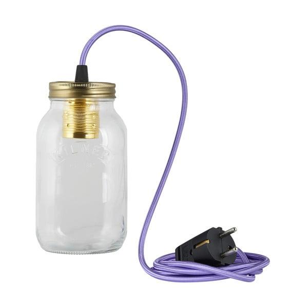 Svítidlo JamJar Lights, fialový kulatý kabel
