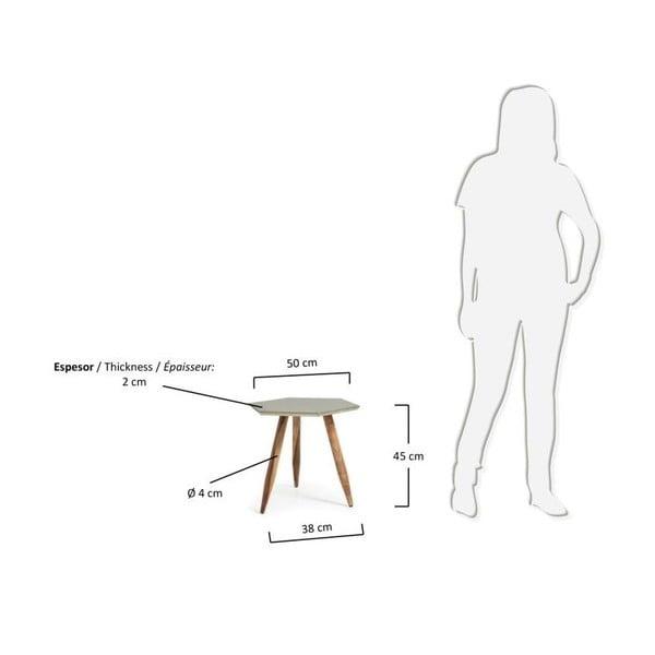 Odkládací stolek s deskou v barvě stříbra La Forma Bima