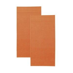 Set oranžových osušek, 50x100 cm, 2 ks