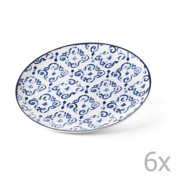 Sada 6 talířů Antico Blue, 26 cm
