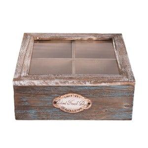 Dřevěný úložný box na čaj Clayre&Eef Melico