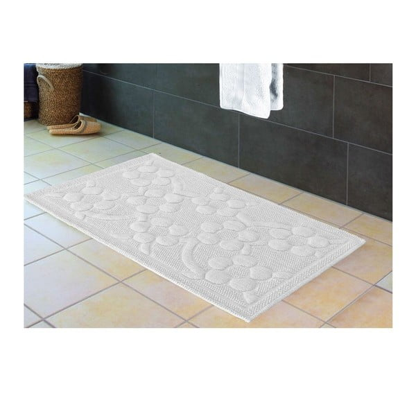 Předložka do koupelny Papatya White, 60x100 cm