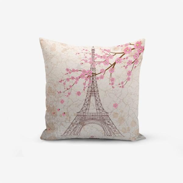 Față de pernă din amestec de bumbac Minimalist Cushion Covers Eiffel, 45 x 45 cm