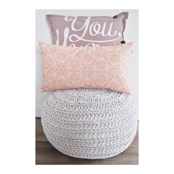 Růžový polštář OVERSEAS Vintage,45x45cm