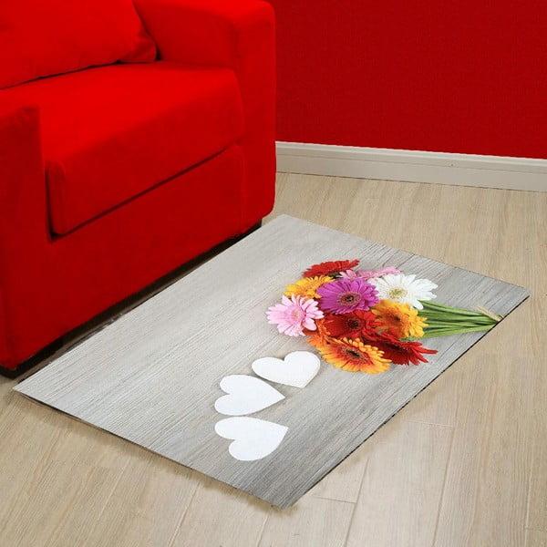 Vinylový koberec Flowers, 52x75 cm