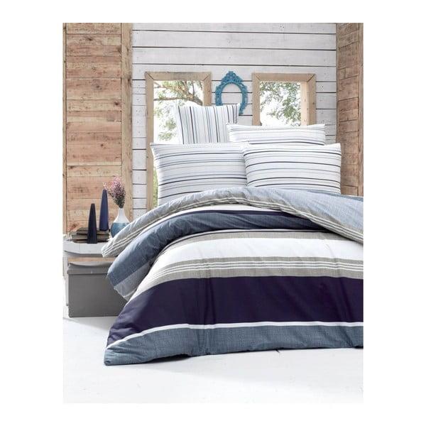 Lenjerie de pat din bumbac ranforce Savoy, 140 x 200 cm, albastru