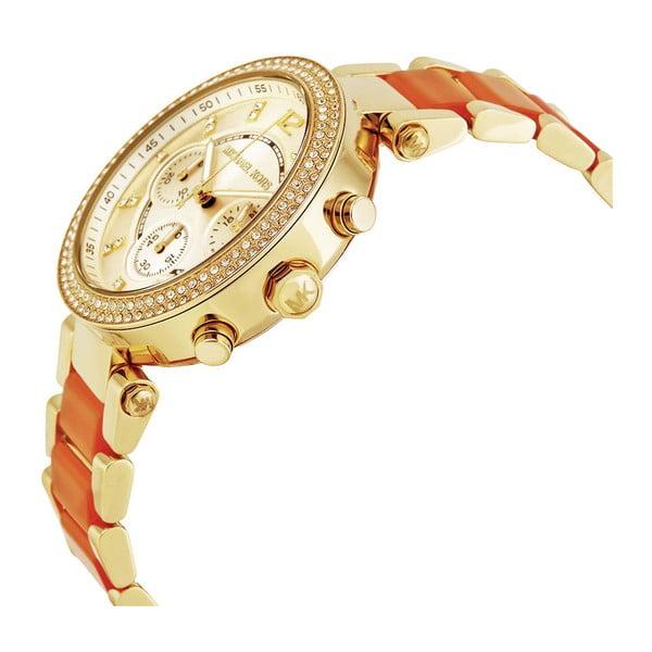Dámské hodinky s oranžovým řemínkem Michael Kors
