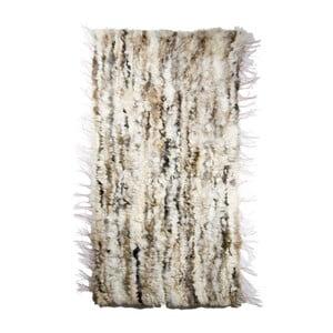 Koberec z ovčí kůže 60x160 cm, světlý