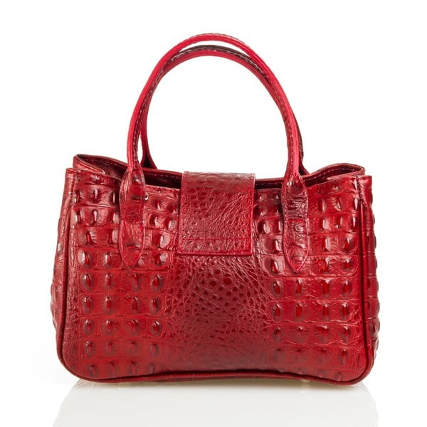 Kožená kabelka Laura, červená