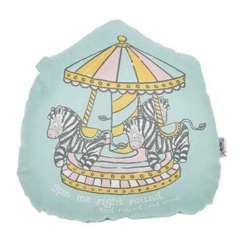 Pernă din amestec de bumbac pentru copii Apolena Pillow Toy Zebras, 29 x 29 cm de la Apolena