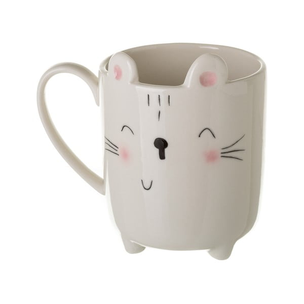 Kitty fehér porcelánbögre, 300 ml - Unimasa