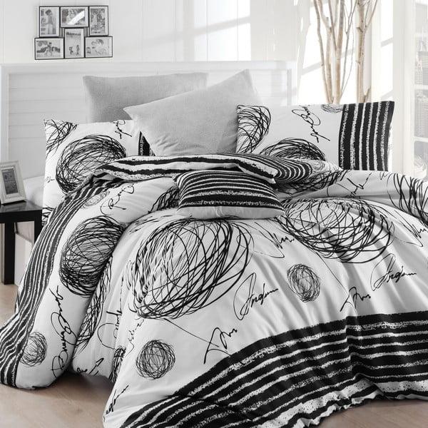 Lenjerie de pat cu cearșaf Blacky, 200 x 220 cm