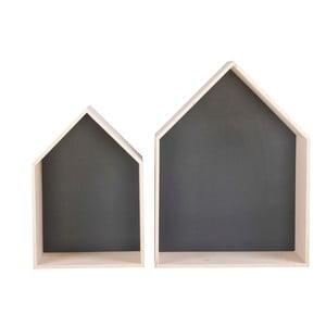 Sada 2 černých poliček Nørdifra House