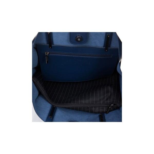 Kožená kabelka Italia 388 Blu
