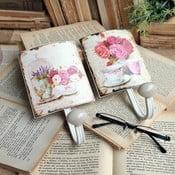 Set nástěnných háčků Roses, 2 ks