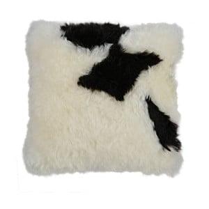 Pernă din blană cu fir scurt Spotted, 35x35 cm