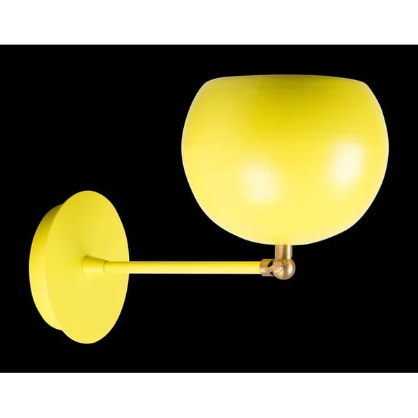 Žluté nástěnné svítidlo Cup Wall Lamp