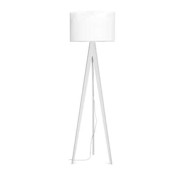 Bílá stojací lampa Artist, bílá bříza lakovaná, 150 cm
