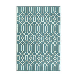 Světle modrý koberec Nourison Baja Talara, 290 x 201 cm