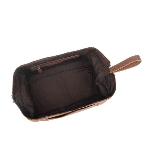 Kožená toaletní taška Wasdale Chestnut