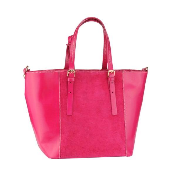 Kožená kabelka Gomeisa, růžová