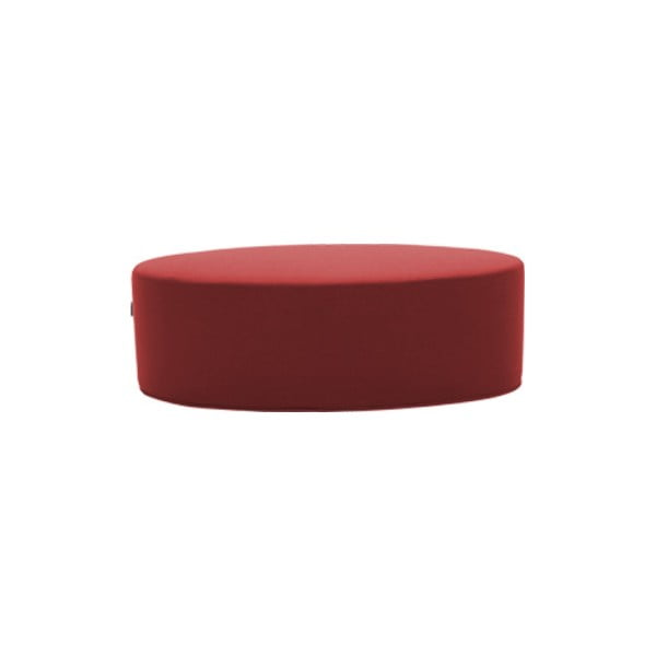Červený puf Softline Bon-Bon Eco Cotton Red, délka 100 cm