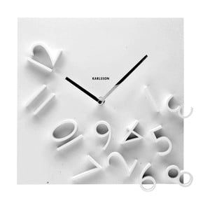 Hodiny Falling Numbers White