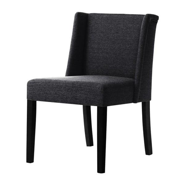 Černá židle s černými nohami z bukového dřeva Ted Lapidus Maison Zeste