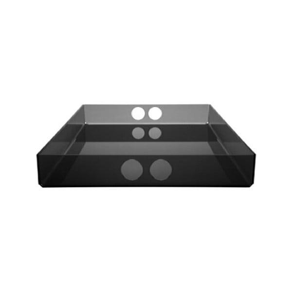 Podnos Tray Black, 22x31 cm
