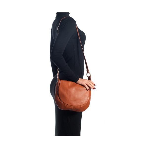 Kožená kabelka Desideria, koňak