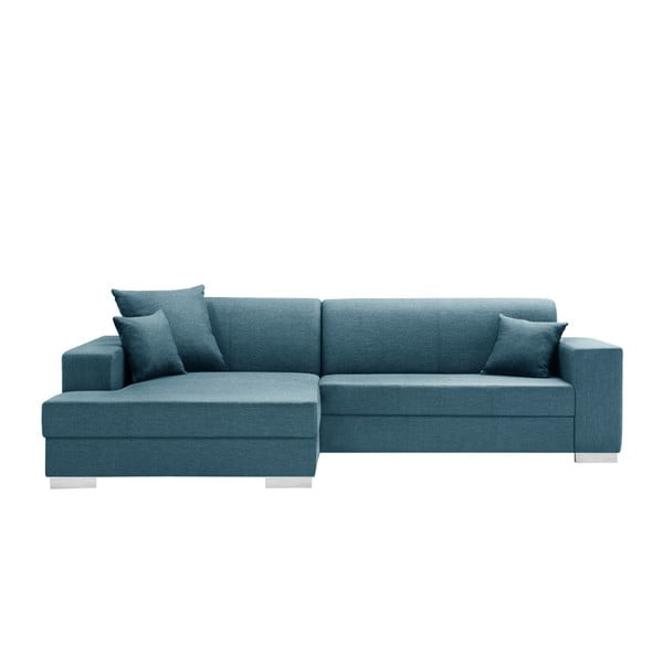 Tyrkysově modrá sedačka Interieur De Famille Paris Perle, levý roh