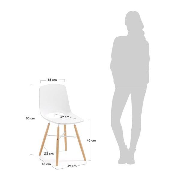 Sada 2 bílých jídelních židlí La Forma Kint