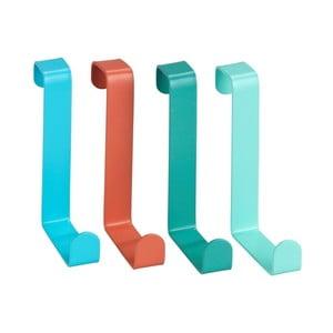 Sada 4 barevných závěsných háčků Wenko Home