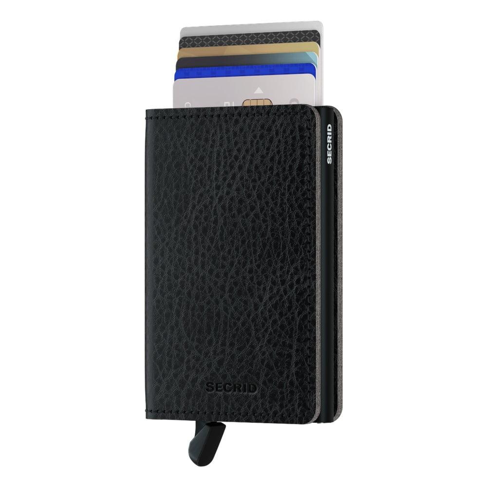 Černá kožená peněženka s pouzdrem na karty Secrid Elegance