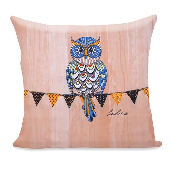 Povlak na polštář z mikrovlákna DecoKing Owls Autumnstory, 80 x 80 cm