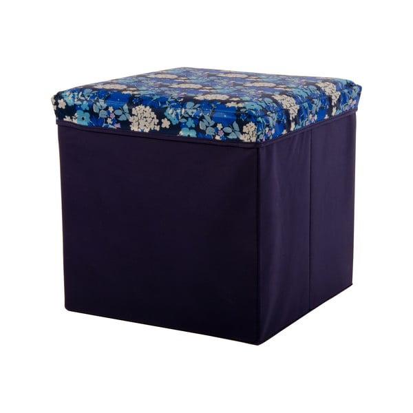 Velká úložná krabice Puff Blue, 38x38 cm