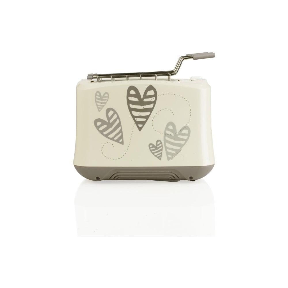 Toaster s motivy srdíček z nerezové oceli Brandani