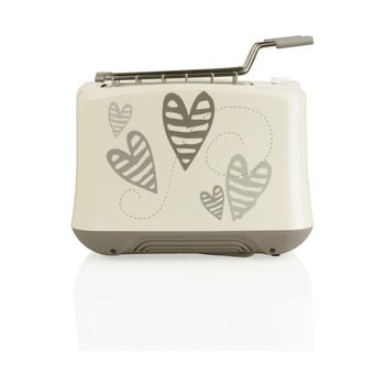 Toaster din oțel inoxidabil decorat cu inimioare Brandani de la Brandani