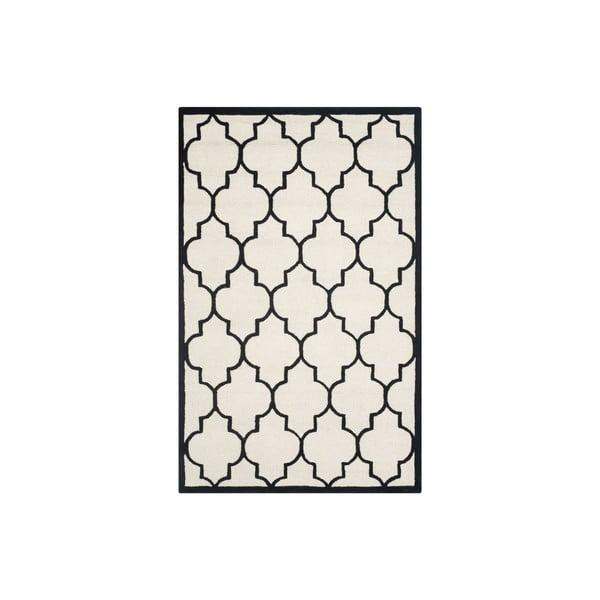 Vlněný koberec Everly 152x243 cm, bílý/černý