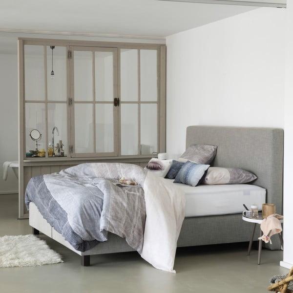 Světle šedá boxspring postel Revor Roma,200x200cm