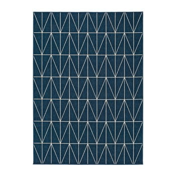 Covor adecvat și pentru exterior Universal Nicol Blue Luzzo, 160 x 230 cm, albastru