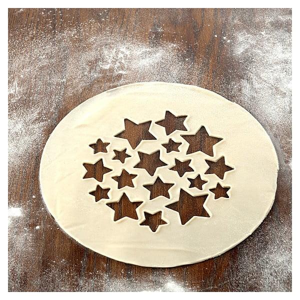 Oboustranný vysekávač na koláče, hvězdy a třešně
