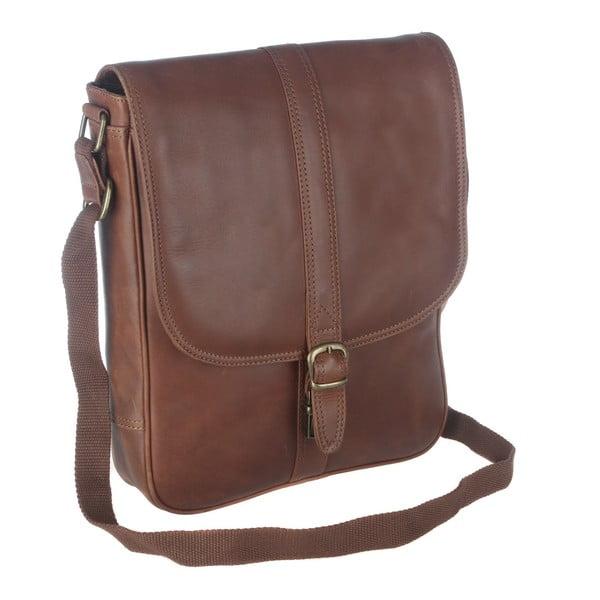 Kožená taška Barnby Brown