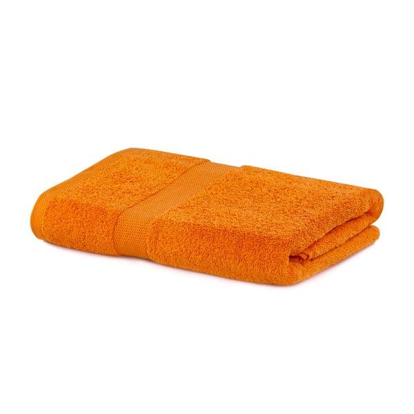 Pomarańczowy ręcznik kąpielowy DecoKing Marina, 70x140 cm