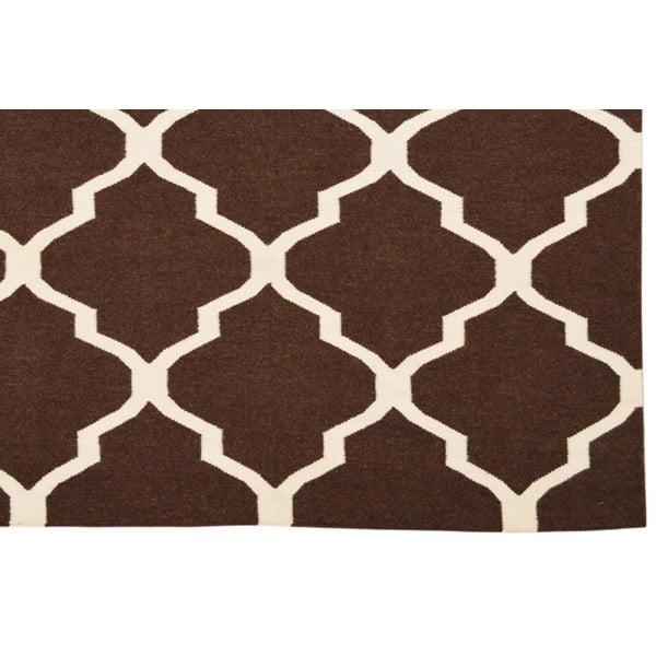 Ručně tkaný koberec Kilim Brown, 160x230 cm