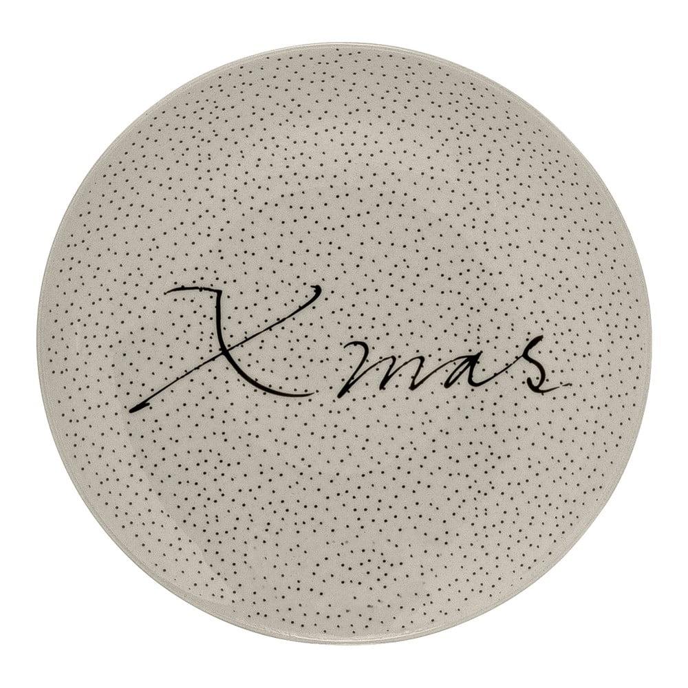 Bílý kameninový talíř Bloomingville Snow, ⌀ 16 cm