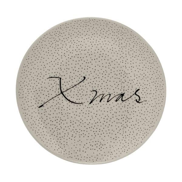 Biely kameninový tanier Bloomingville Snow, ⌀ 16 cm