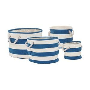 Sada 4 modrobílých prádelních košů Premier Housewares Nautical