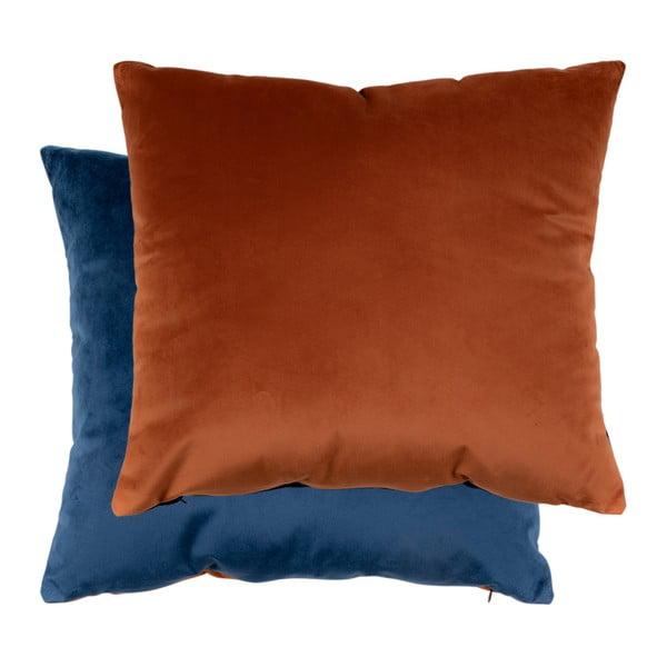 Braga 2 db-os kék és narancssárga párnaszett bársony huzattal, 45 x 45 cm - House Nordic