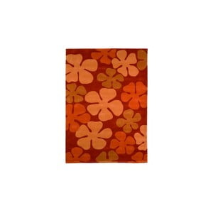 Ručně tkaný koberec Calypso, 140x200 cm, oranžový